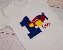 Plane Birthday Shirt - First Birthday Outfit - Plane Shirt - Birthday Outfit -  Bodysuit - Baby Bodysuit - Boys Smash Cake Outfit