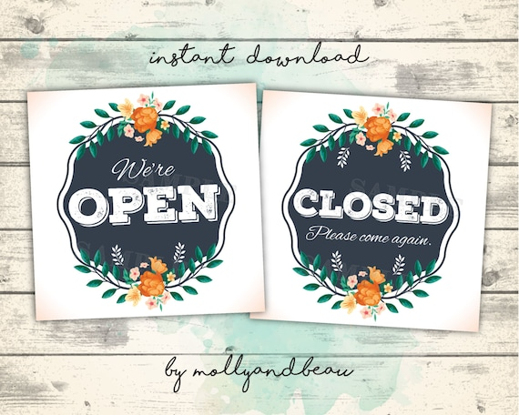 open closed sign template - cute open and closed signs open sign closed sign instant