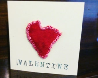 Handmade Felted Valentine's Day Card