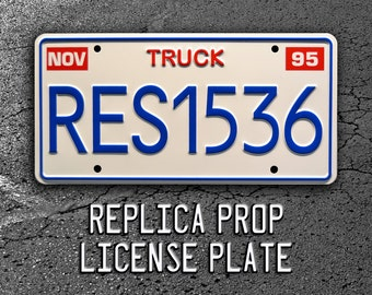 Toy Story / Pizza Planet Truck / Pixar RES1536 *Metal Stamped* Replica Prop License Plate