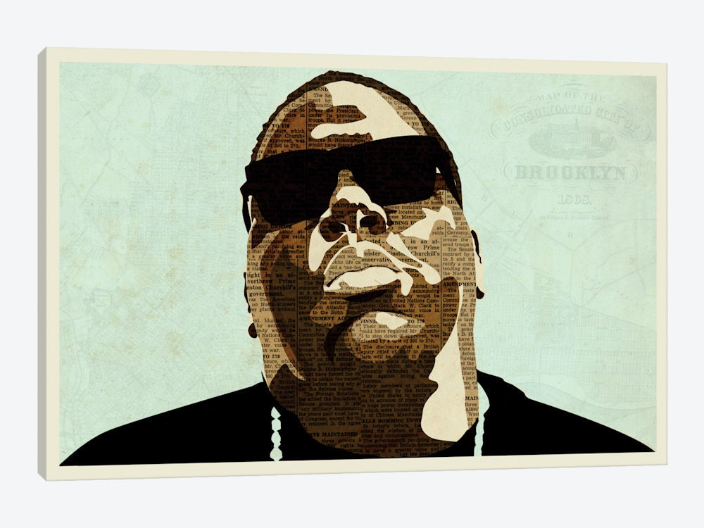 Notorious Big Art Biggie Smalls Canvas Art Print Sky S