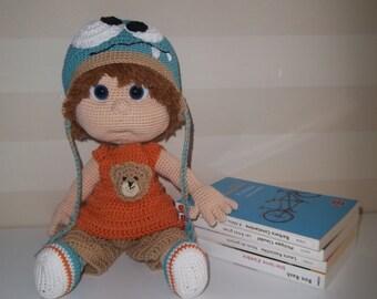 Doll baby boy crochet