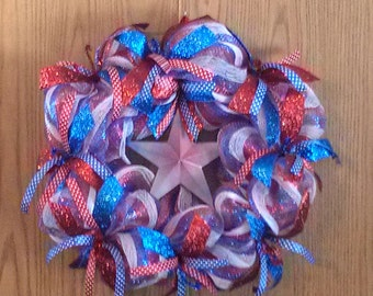 Patriotic or 4th of July Wreath