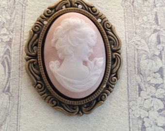 Oval Cameo Brooch