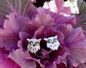 Silver owl earrings, Owl earrings, Sterling silver owl earrings, Silver stud earrings, Owl studs, Silver girl earrings, Women's earrings