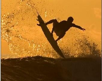 Surfer Beach Sunset LAMINATED Cornhole Wrap Bag Toss Decal Baggo Skin Sticker Wraps