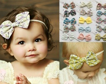 SET of 3 Baby headbands, newborn headband, Baby headband, Nylon headband,Baby girl Headband,Baby hair bows, Small Baby Headband. Baby Bows.
