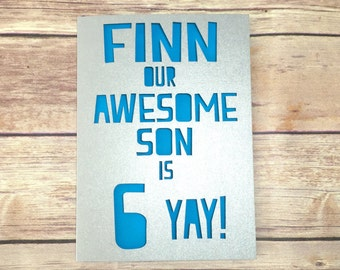 Personalised Son Birthday Card, Son Age Card, Childrens Birthday, Kids Number Card 1st 2nd 3rd 4th 5th 6th 7th 8th 9th, To My Son Card