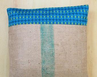 Cover burlap pillow or cushion 40 x 40