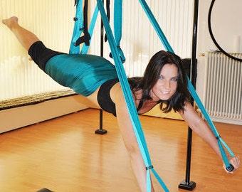 Yoga swing/hammock with handles