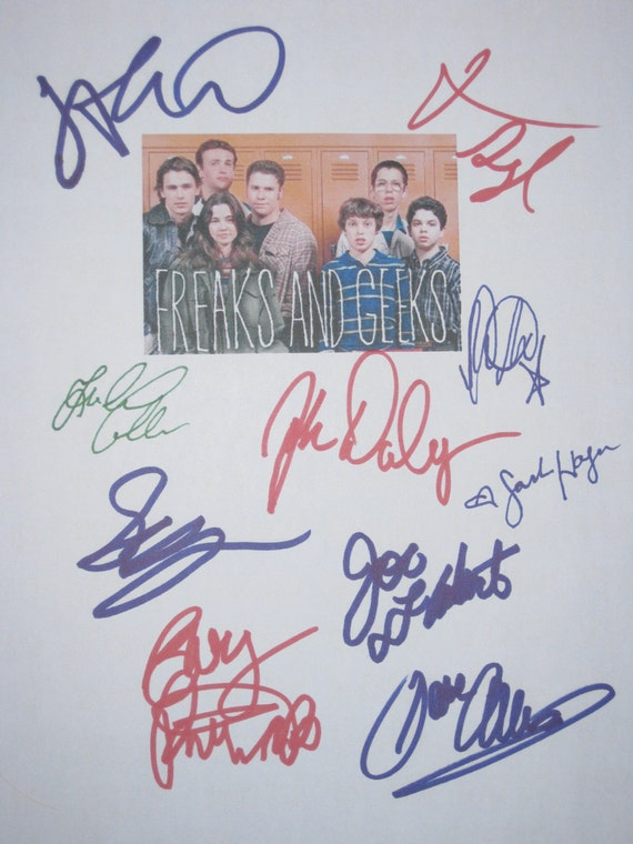Freaks and Geeks Pilot Signed TV Screenplay Script X10 Autographs Seth Rogen James Franco Martin Star Jason Segel Linda Cardellini Flaherty