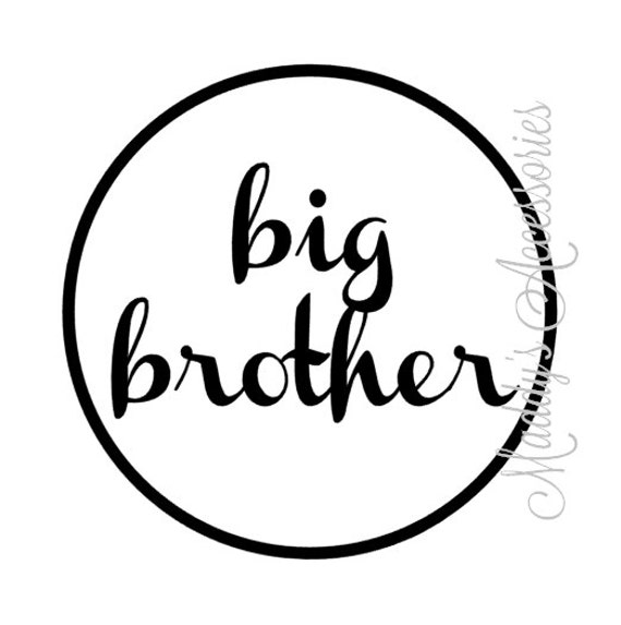 Iron on decal - Big Sister / Big Brother - baby clothing accessory