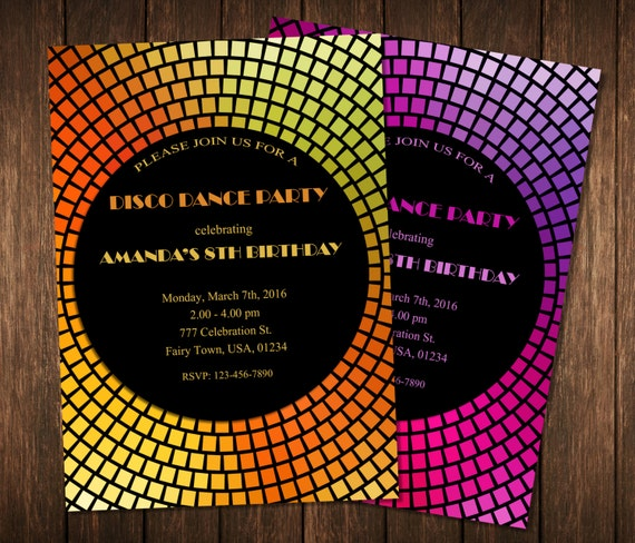 Dance Party Invitation Disco Dance Party Invitations Disco – Dance Party Invites