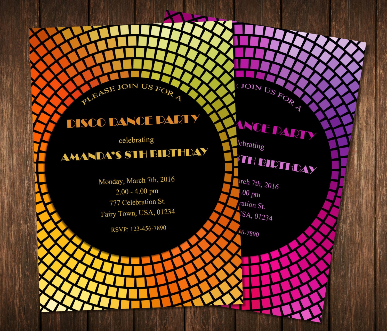 Dance Party Invitation Disco Dance Party Invitations Disco