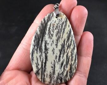 Stunning Chohua Jasper Stone Pendant Necklace