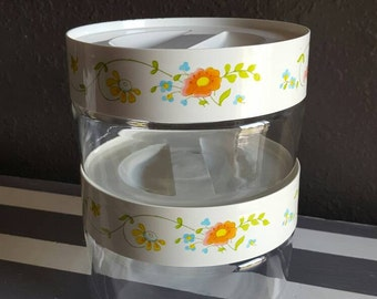 Pyrex Wildflower Canisters. Pyrex Canisters. Pyrex Glass Jar. Set of 2 Canisters.