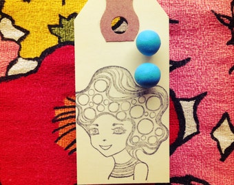 Hello Color Earrings in Super Blue