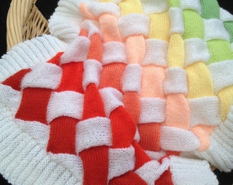 Baby Entrelac Blanket, Knitting Pattern.  PDF Instant Download.