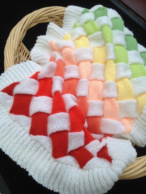 Baby Entrelac Blanket Knitting Pattern. PDF Instant