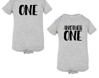 DJ Khaled-Inspired One and Another One Onesies for Twins - Infant Romper - NB 6m 12m 18m 24m