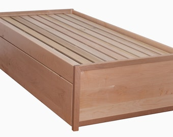 Beautiful XL  Solid Maple Trundle with Natural finish.