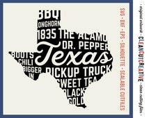 SVG Texas svg Texas State svg southern shirt design sweet tea bbq boots chili svg DXF PNG studio - Cricut & Silhouette - clean cutting files
