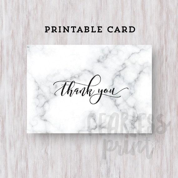 Marble Thank You Card Printable | Printable Thank you Card | Digital Card | Thank You Note INSTANT DOWNLOAD