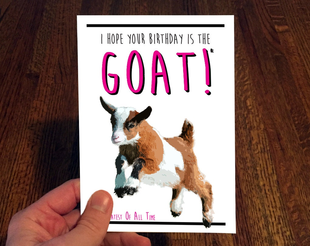 Goat Birthday Card – Goat Birthday Card