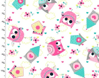 Owl School by 3 Wishes Fabrics  - (5) Fat Quarters Set 1