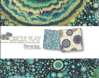 "SALE Circle Play by Benartex - (42) 5"" x 5"" Charm Pack"