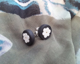 Flower Earrings with LEGO bricks - Flower Collection