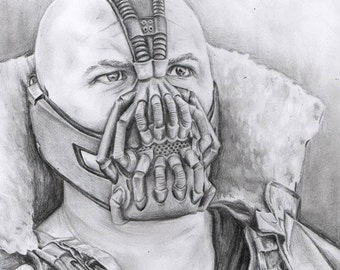 Drawing of Bane from Dark Knight Rises