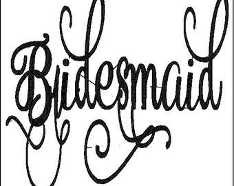 Bridesmaid Embroidery Design