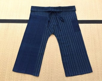 Free Size Indigo Thai Fisherman Pants - TPM12