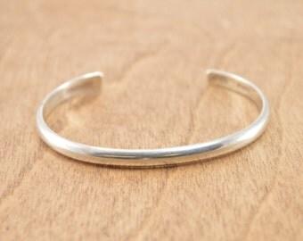 Simple Cuff Bracelet Sterling Silver 12.9g Vintage Estate
