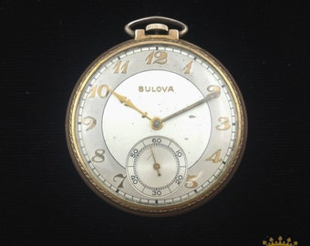 Vintage Bulova Pocket Watch