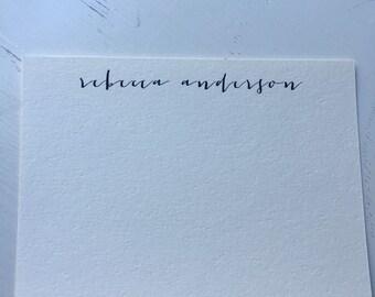 Modern script stationery