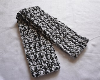 Black White and Grey Infinity Scarf
