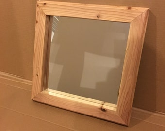 Natural Cedar Mirrored Frame (#532)