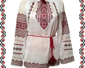Handmade Ukrainian Women's Embroidered Shirt