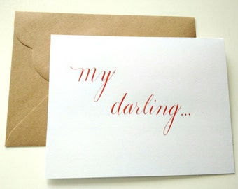 My darling Valentine's card blank with envelope