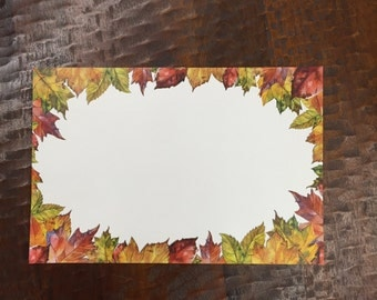Autumn Leaves Paper Placemats - Set of 25