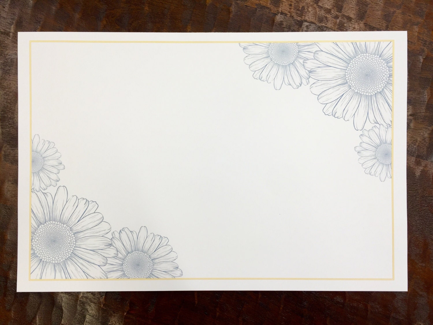 blue  u0026 yellow floral paper placemats