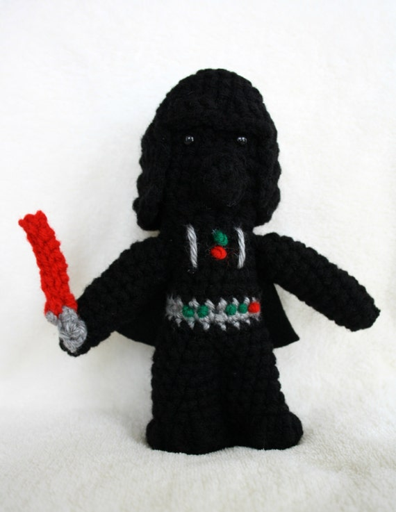 Amigurumi Sushi Pattern Free : Darth Vader Star Wars Amigurumi Crochet Doll