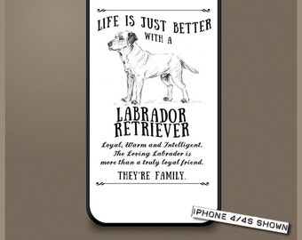 Labrador Retriever dog phone case cover iPhone Samsung ~ Can be Personalised