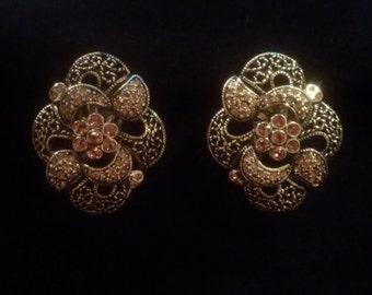 FAC Butler vintage clip on earrings