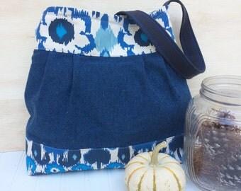 Slouchy Bag, Wool Bag, Holiday Gift, Shoulder Bag, Bucket Bag, Handmade Handbag