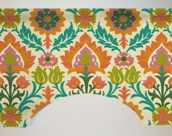 Waverly Santa Maria Custom Valance Curtain, Colorful Suzani Floral, Lined, SNS