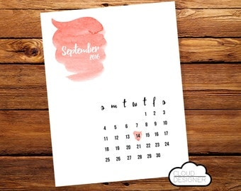 Pregnancy Announcement Calendar // Printable // Custom Calendar // Pregnancy Reveal // Baby Announcement