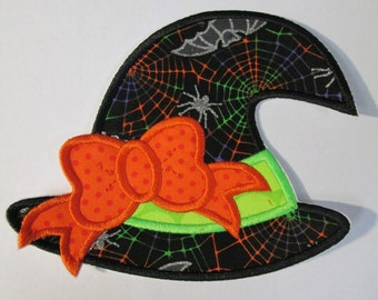 Witch Hat - Ready To Ship in 1 Business Day - Iron On Embroidered Applique